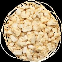 Банан сублимированный кубик (2-5 мм)  100 гр